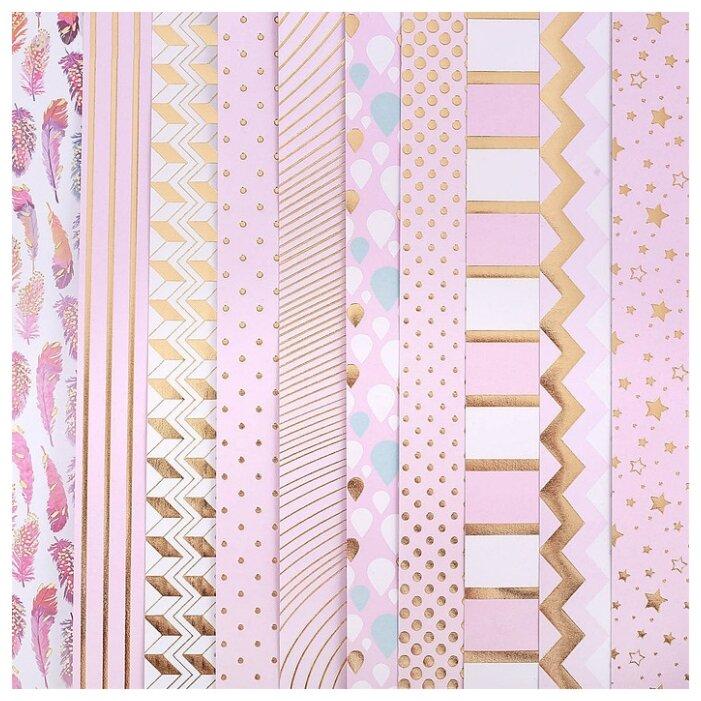 Бумага Арт Узор 30.5x30.5 см, 10 листов, Розовые облака