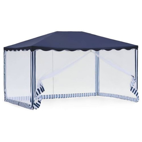 Фото - Шатер Green Glade 1038, со стенками и москитной сеткой, 3 х 4 х 2.5 м синий / белый шатер green glade 1003 со стенками и москитной сеткой белый зеленый