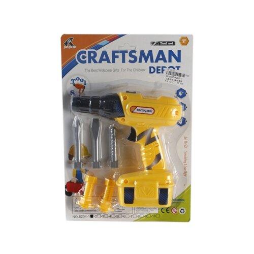 Shantou Gepai Дрель с насадками 6204-1, Детские наборы инструментов  - купить со скидкой
