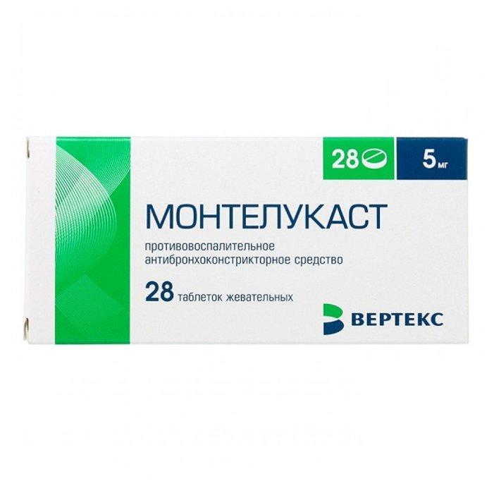 Монтелукаст таб. жев. 5 мг №28