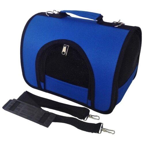 Сумка-переноска для кошек и собак LOORI Z8395/Z8357 46х28х29 см синий