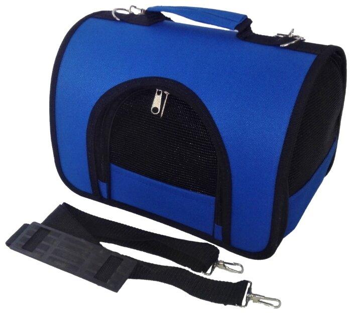 Сумка-переноска для кошек и собак Loori Z8395 синяя 46х28х29 см