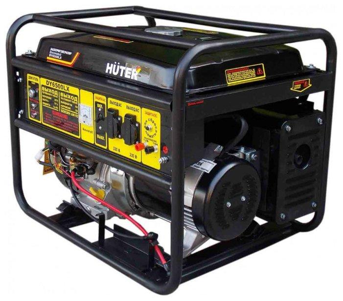 Бензиновый генератор Huter DY6500LX (5000 Вт)