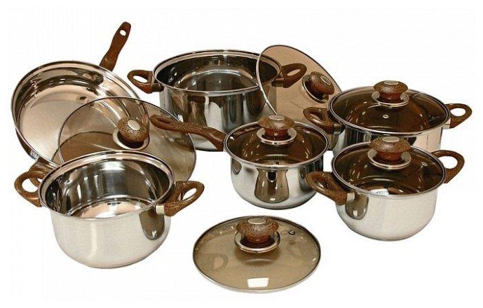 Набор посуды Webber ВЕ-205/12 12 пр.