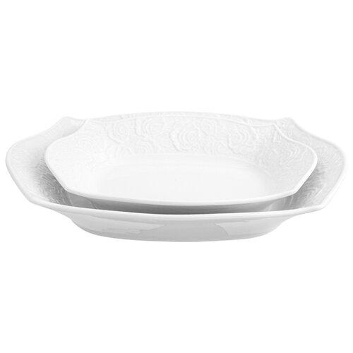 Elan gallery Набор блюд Белые розы, 2 шт.