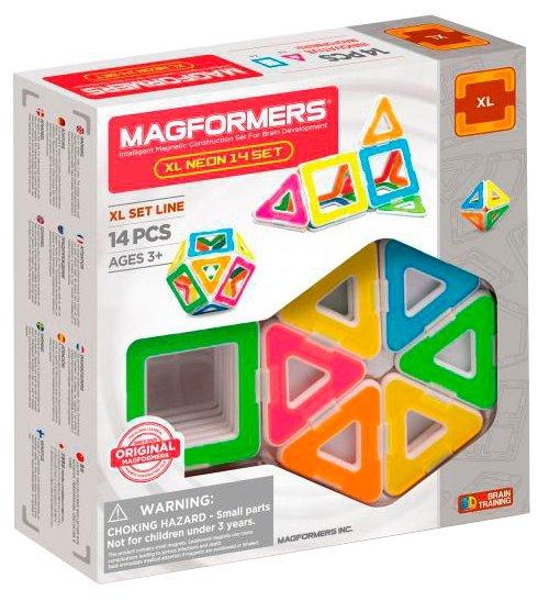 Магнитный конструктор Magformers XL Neon 706005-14