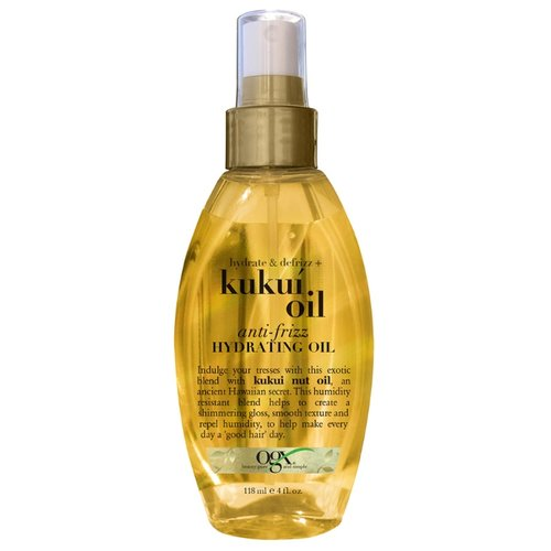 OGX Масло-спрей для увлажнения и гладкости волос с маслом гавайского ореха (кукуи), 118 мл каким маслом мазать лицо для увлажнения