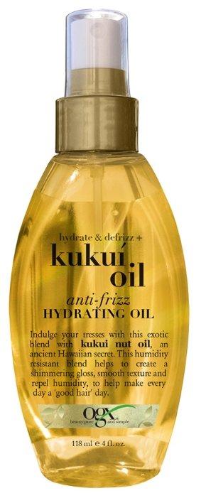 OGX Масло-спрей для увлажнения и гладкости волос с маслом гавайского ореха (кукуи)