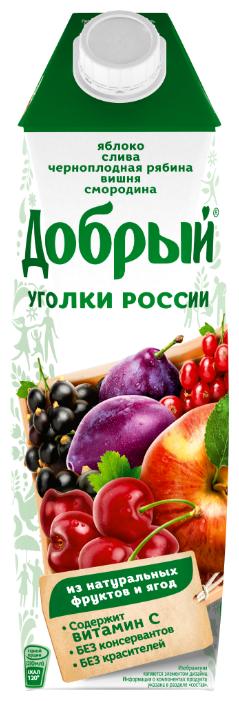 Нектар Добрый Уголки России Фруктово-ягодный микс, 1 л