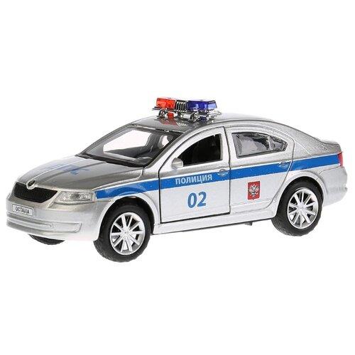 Купить Легковой автомобиль ТЕХНОПАРК Skoda Octavia Полиция (OCTAVIA-P) 12 см серый/синий, Машинки и техника
