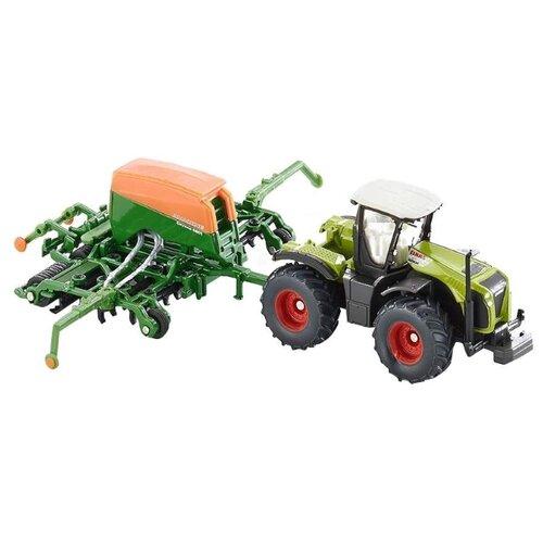 Купить Трактор Siku Claas Xerion с сеялкой (1826) 1:87 17 см зеленый, Машинки и техника