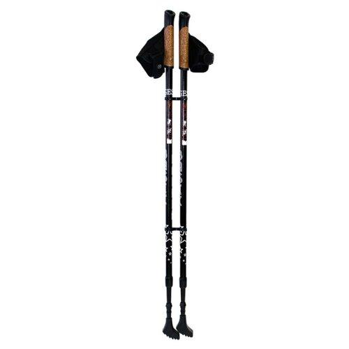 Палки для скандинавской ходьбы 2 шт. GESS Телескопические Basic Walker черный