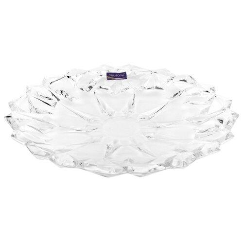 Коралл Блюдо сервировочное Гранение лед 34 см прозрачныйБлюда и салатники<br>