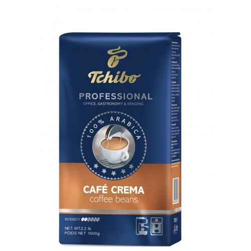 Кофе в зернах Tchibo Professional Caffe Crema, арабика, 1 кг кофе в зернах caffe carraro crema italiano 1 кг
