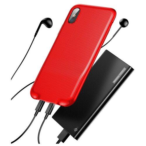 Чехол Baseus Audio Case для Apple iPhone X redЧехлы<br>