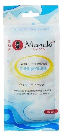 Салфетки влажные MANEKI Kaiteki с антибактериальным эффектом WT1408