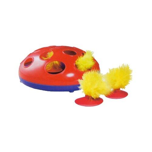 Игрушка для кошек KONG Glide'n'Seek трек на батарейках (CA48) красный/синий