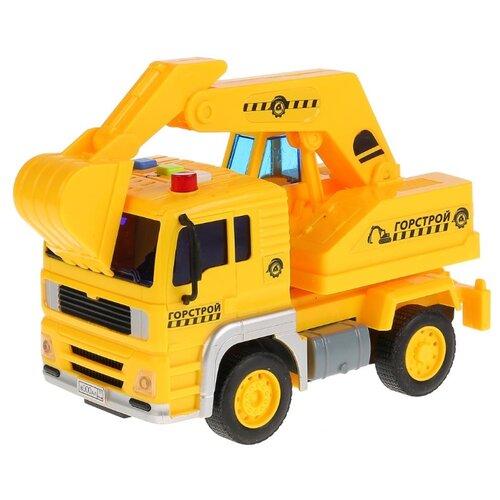 Купить Экскаватор ТЕХНОПАРК Горстрой (WY510C) 1:20 17 см желтый, Машинки и техника