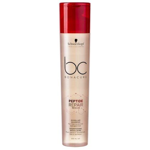 Купить BC Bonacure шампунь мицеллярный Peptide Repair Rescue для нормальных и тонких поврежденных волос 250 мл