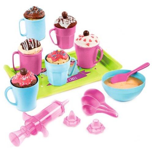 Купить Набор посуды Smoby для приготовления кексов 312101 голубой/зеленый/розовый, Игрушечная еда и посуда