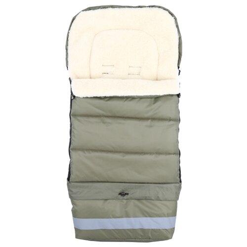 Купить Конверт-мешок Leader Kids меховой в коляску Трансформер 103 см хаки, Конверты и спальные мешки