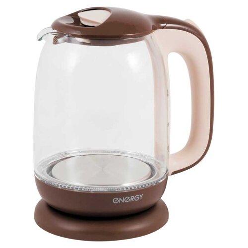Фото - Чайник Energy E-281, коричневый/бежевый чайник energy e 280 стальной