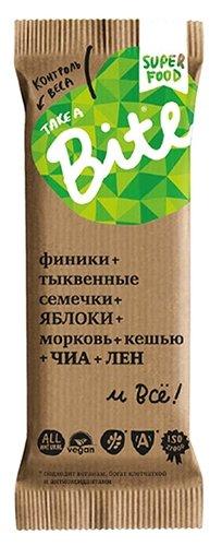 Батончик орехово-фруктовый Take a Bite Контроль веса Морковь-кешью, 45 г