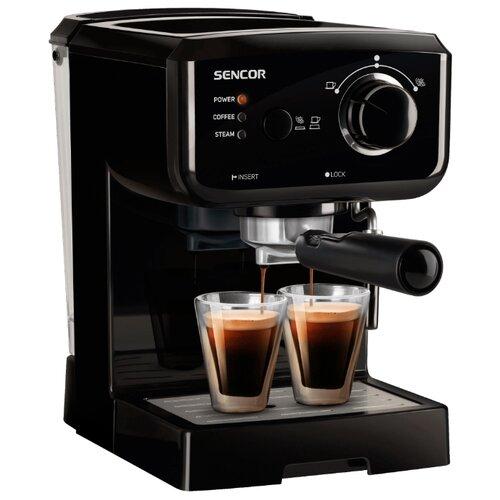 Кофеварка рожковая Sencor SES 1710BK, черный