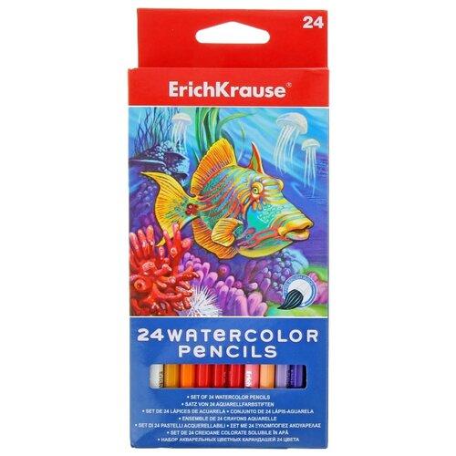 ErichKrause Акварельные карандаши ArtBerry 24 цвета с кисточкой (32882)