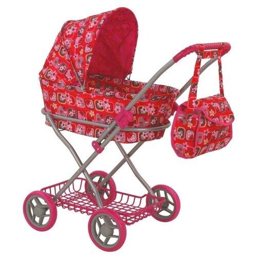 Купить Коляска-люлька Buggy Boom Mixy (8019) красный/рисунок, Коляски для кукол