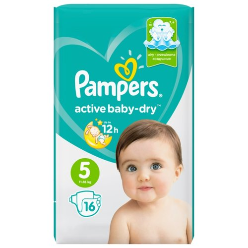 Pampers подгузники Active Baby-Dry 5 (11-16 кг) 16 шт. подгузники pampers active baby dry 5 11 16 кг 60 шт