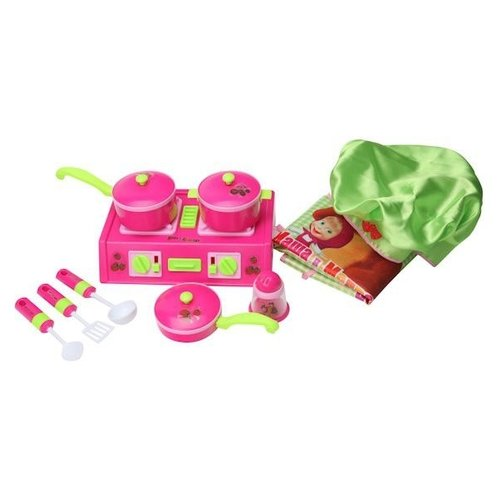 Купить Игровой набор Играем вместе Маша и Медведь NF2886-1 розовый/белый/зеленый, Детские кухни и бытовая техника