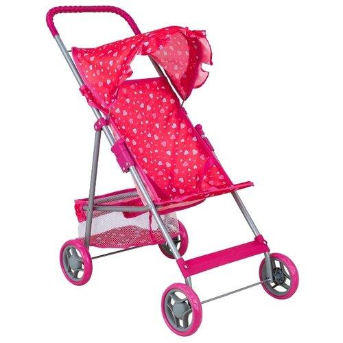 Купить Прогулочная коляска Buggy Boom Mixy (8008) розовый/сердечки, Коляски для кукол