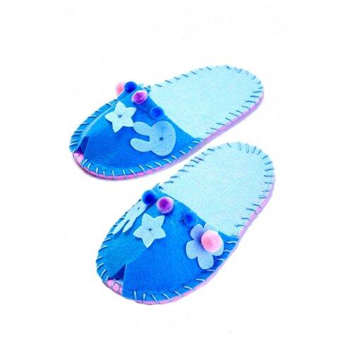 Купить BRADEX Шьем тапочки, модель Цветок голубой (DE 0151), Наборы для шитья