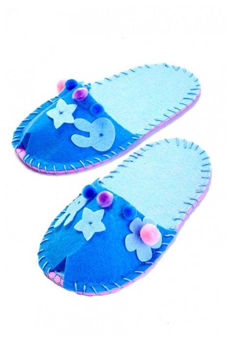 BRADEX Шьем тапочки, модель Цветок голубой (DE 0151)