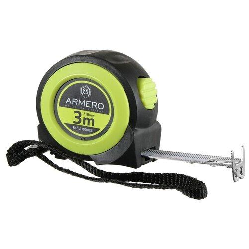Фото - Измерительная рулетка Armero A100/031 16 мм x 3 м измерительная рулетка вихрь 73 11 1 3 25 мм x 10 м