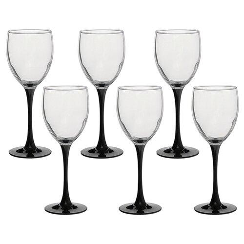 Luminarc Набор фужеров для вина Domino 6 шт 350 мл J0015 стакан luminarc набор drip rouge red 4 шт v 350 мл высокие 754717