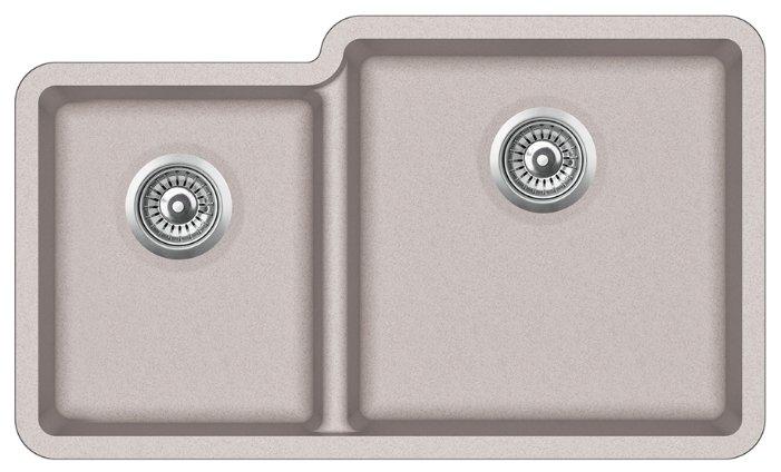 Врезная кухонная мойка AQUASANITA Arca SQA230-R 81х48см искусственный гранит