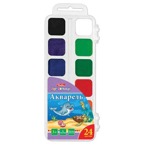 Hatber Акварель медовая Дельфины, 24 цвета, без кисти (KKa_24010)