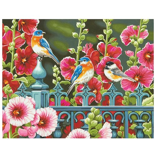 Dimensions Картина по номерам Ворота мальвы 28х36 см (DMS-73-91490)Картины по номерам и контурам<br>