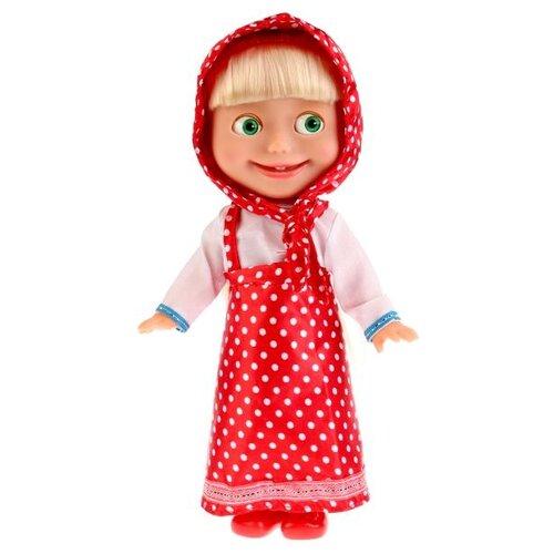 Интерактивная кукла Карапуз Маша и Медведь Маша в платье в горох, 30 см, Y83030BКуклы и пупсы<br>