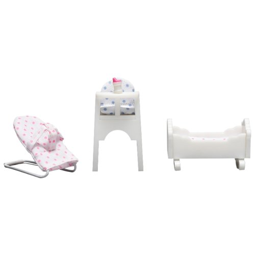 Купить Lundby Набор мебели для детской Смоланд (LB_60208600) белый, Мебель для кукол
