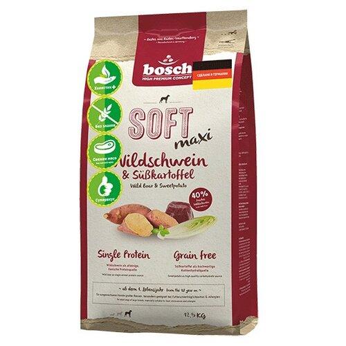 Сухой корм для собак Bosch Soft, беззерновой, при чувствительном пищеварении, дикий кабан, с бататом 12.5 кг (для крупных пород) по цене 8 436