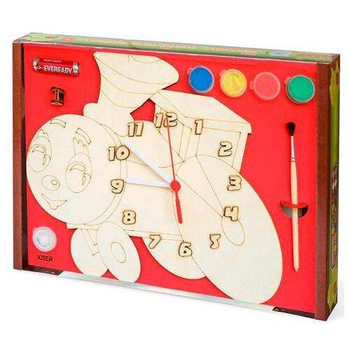 Нескучные игры Набор для росписи Часы с циферблатом Паровозик (ДНИ114) нескучные игры набор для росписи часы с циферблатом домик дни113