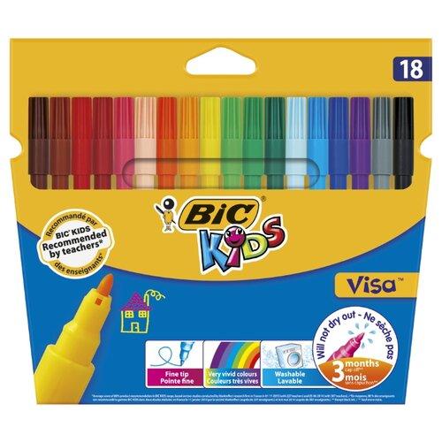 Купить BIC Фломастеры Visa 18 шт. (888681) разноцветные