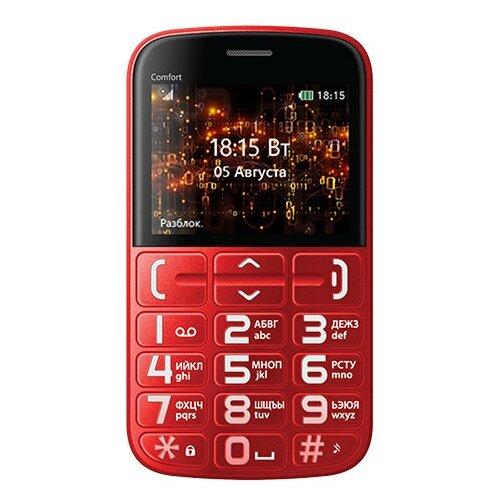 Купить Телефон BQ 2441 Comfort красный