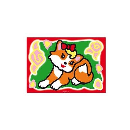 Купить Hatber Набор для рисования Раскрась песком Рыжая кошечка (РП5_17020), Фрески