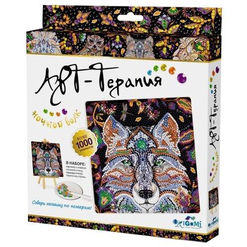 Origami Набор алмазной вышивки Алмазные узоры. Арт-терапия. Ночной Волк (03214) 20х20 см алмазные узоры солнечный город 10 15см арт 04726