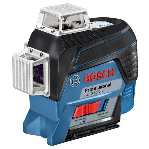 Лазерный уровень самовыравнивающийся BOSCH GLL 3-80 CG Professional + L-BOXX 136 + BM 1 (0601063T00) уровень bosch gll 3 80c 15м 0601063r00