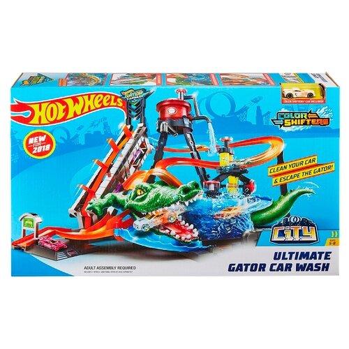Купить Трек Hot Wheels City Ultimate Gator Car Wash FTB67, Детские треки и авторалли